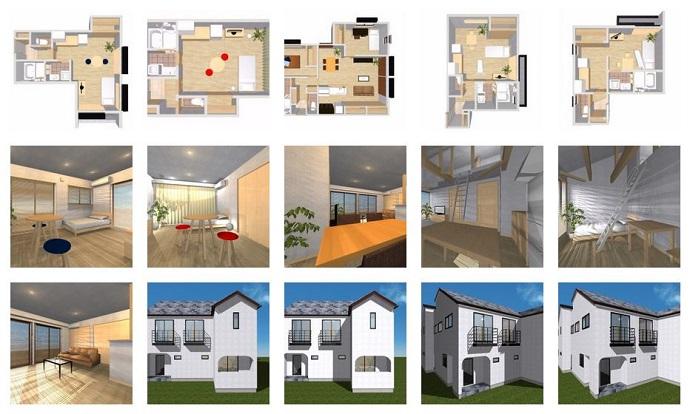 無添加住宅の賃貸 間取り、外観イメージ